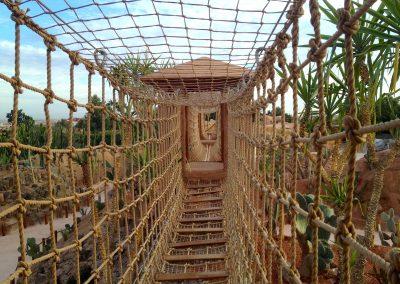 Pont suspendu Jardin des Cactus Crocoparc Agadir